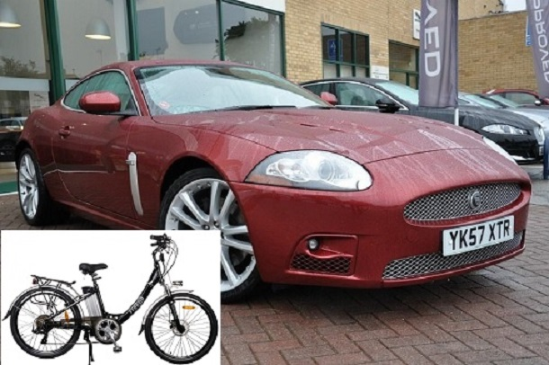 Electric bike vs Jaguar XK: Who will win?
